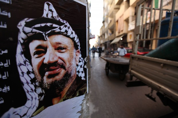 Yasser Arafat keeping an eye on Palestinians in Beirut