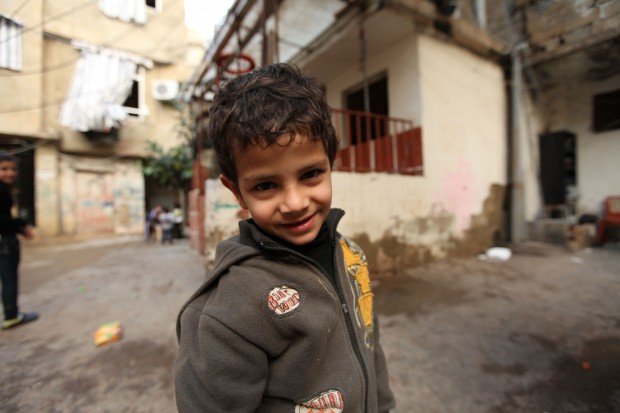 Palestinian refugee boy