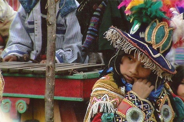 Child at festival, Todos Santos, Guatemala