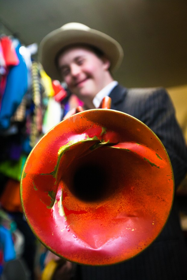 Harry as horn player – Gladrags Special Needs Youth Club